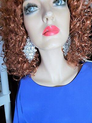 Silver Tone Chandelier Fish Hook Pierced Earrings 3 1/2 inches Long