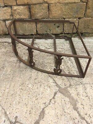 Victorian wrought iron planter frame