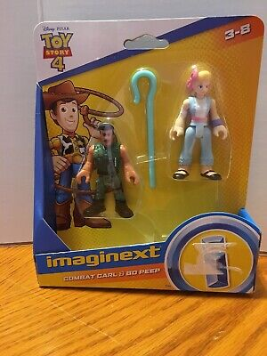 Fisher Price Imaginext Toy Story 4 Combat Carl & Bo Peep Set New