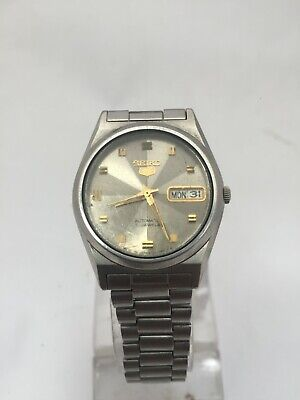 VINTAGE SEIKO 5 7S26-0450 A4 AUTOMATIC 21 JEWELS MEN'S WATCH JAPAN
