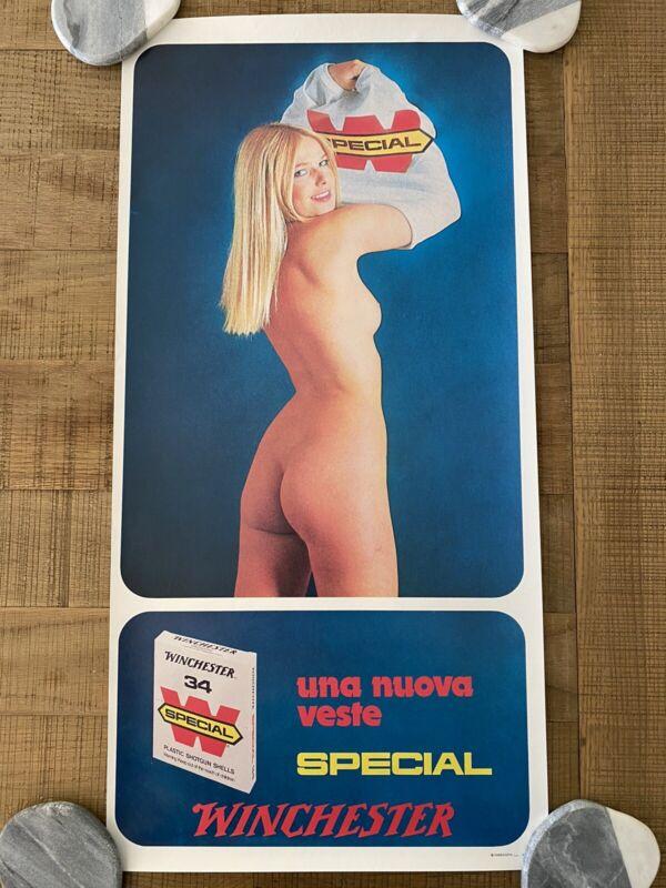RARE - Vintage Italian Winchester Advertising Poster, Una Nuova Veste Special