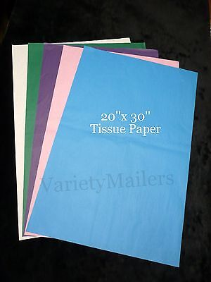 100 Sheets Of 20x 30 Tissue Paper 20 Each Of 5 Colors Free Priority Shipping