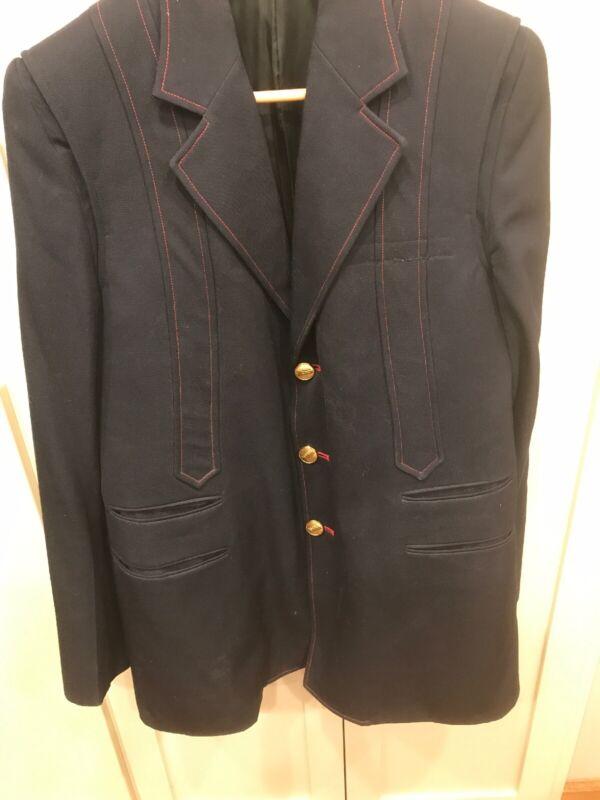 Mens Gerber Vintage AMTRAK Conductors Black Blazer Suit  - Jacket  2 Pants & Tie