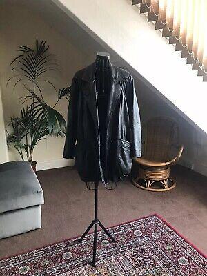 90's Oversized Vintage Black Leather Jacket