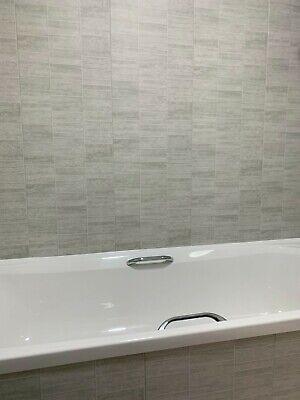Multi Small Grey Tile Effect Bathroom Cladding PVC Shower Wet Wall Panels PVC