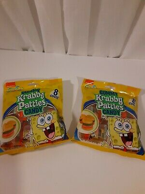Gummy Krabby Patty (2 Bags Spongebob Squarepants Krabby Patties Candy Gummy 2.54 oz each)