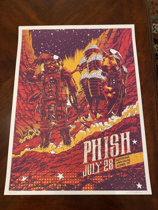 Phish Austin 2015 Summer Tour Print Conor Nolan