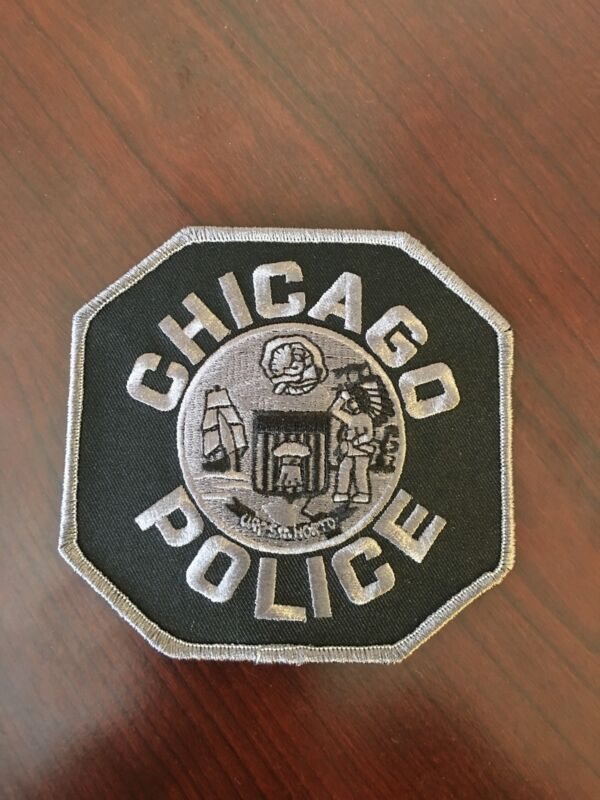 Chicago Police Shoulder Patch Black And Gray