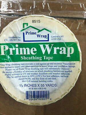 Prime Wrap Sheathing Tape 1 78 X 55 Yds 8515 Seals Seams In House Wrap Barrier