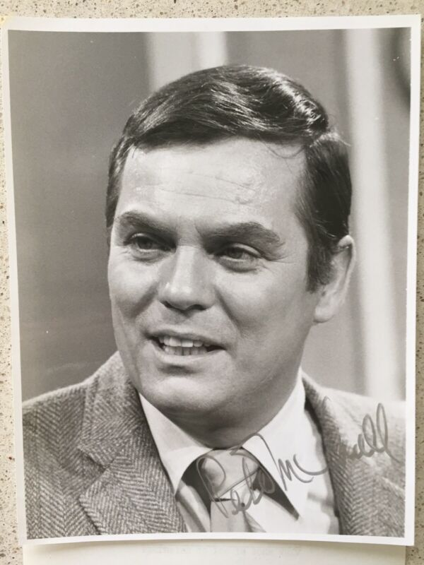 "Peter Marshall Signed 7""X9""  BXW Photo Host Of The Hollywood Squares Autographed"