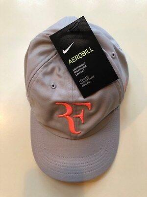 8402a1a8 Nike RF Dri-fit Hat Roger Federer Aerobill Heritage 86 Grey/Lava Unisex