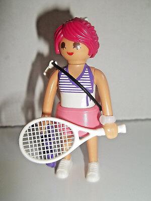 Ladies Player Series (Playmobil,LADY TENNIS PLAYER with TENNIS RACKET,TENNIS BALLS,Series #12)