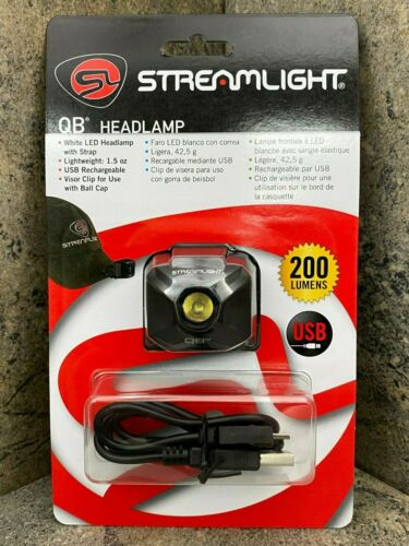 Streamlight QB Compact Spot Beam USB Rechargeable Headlamp Black 61432 200 Lumen