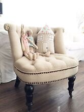 French Provincial Shabby Cottage Tufted Buttoned Chair Berwick Casey Area Preview