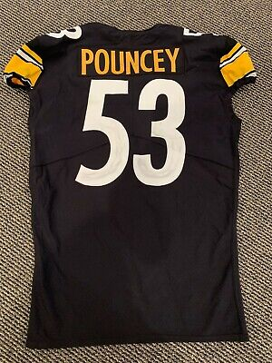 9f05f68fea1 2018 MAURKICE POUNCEY PITTSBURGH STEELERS GAME USED JERSEY GREAT USE BLACK