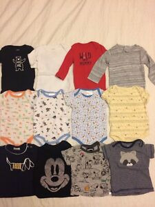 Baby 0-3 months long sleeve, onesies, and t shirts