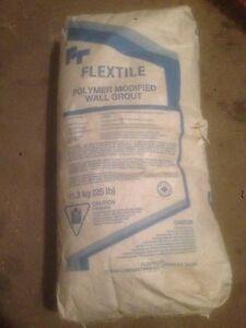 Flex tile polymer modifier wall grout