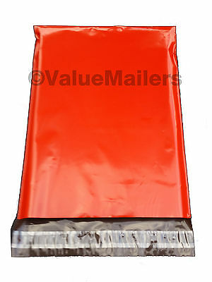 1000 7.5x10.5 Red Poly Mailers Shipping Envelopes Couture Boutique Quality Bags