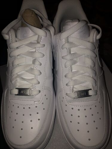 New Nike Air Force 1 07 LE Low Triple All White 315115-112 Womens Size 8 AF1