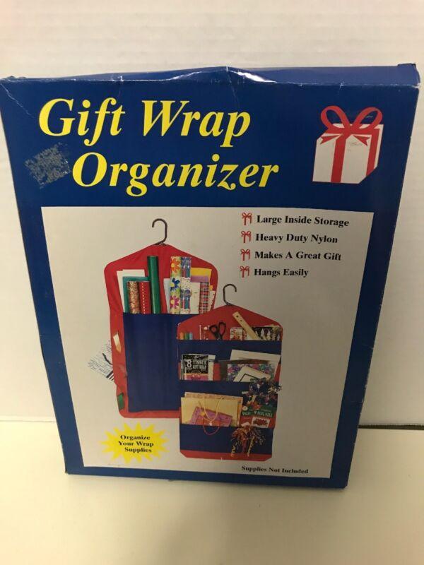 Vintage Hanging Gift Wrap Organizer Craft Storage Paper Ribbons Bags 1 Organizer