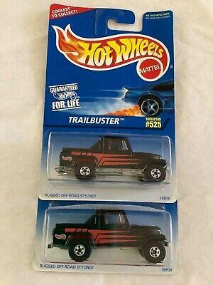 Hot Wheels 1996 #525 Trailbuster/Jeep Scrambler VHTF made in India 2 car lot !