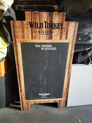 RARE Wild Turkey Kentucky Bourbon large CHALK BOARD American Whiskey Whisky