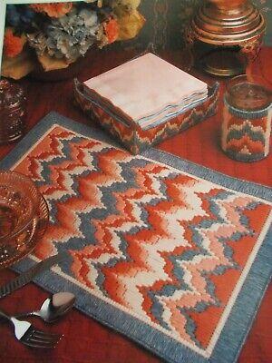 Bargello Place Mat Set Plastic Canvas Pattern -1992 Annie's Intnl. Pattern Club