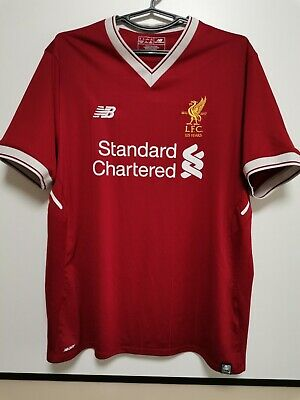 SIZE L Liverpool 2017-2018 Home Football Shirt Jersey (125 Years) image