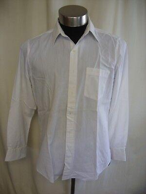"Mens Shirt Calvin Klein, collar 16 1/2"", white & textured stripes, regular 7905"