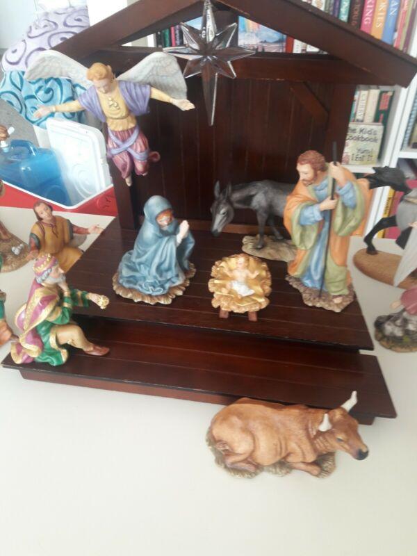 The Nativity (20 piece set) by Gianni Benvenuti - The Franklin Mint 1989