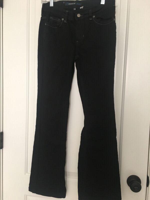 Jordache Kids Bootcut Black Denim Jeans Pants Sz 14 Bottoms Clothes