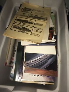 Full box of 1960s-1980s car brochures