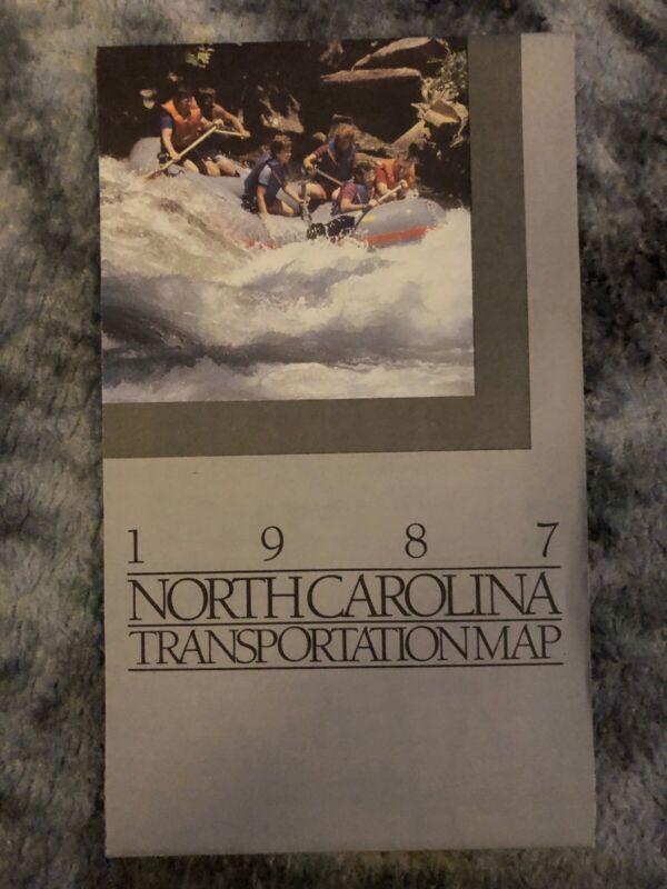 1987 North Carolina Transportation Map