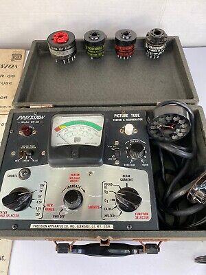 Precision Picture Tube Tester Rejuvenator Model Cr-60 W Accessories Manuals