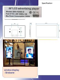 DIGITAL LCD POSTER SIGNAGE 55in RETAIL 700 NIT WINDOW DISPLAY