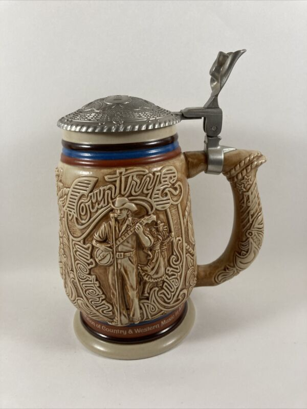 Vintage Avon 1994 Country And Western Music Collectible Beer Stein Number 95712