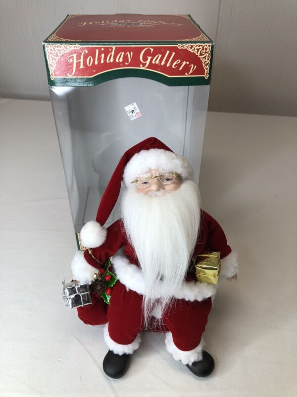 Holiday Gallery Musical Animated Doll Wind-Up Music Box Porcelain Doll