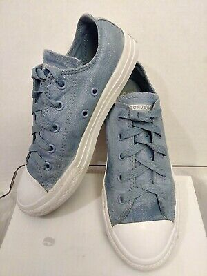 Converse All Star Chuck Taylor Low Top Sneakers Shoes Girls Sz 2 Blue - Girls Chuck Taylor