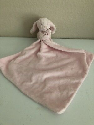 Jellycat Baby Pink Bashful Bunny Rabbit Plush Blanket Security Lovey Blanket