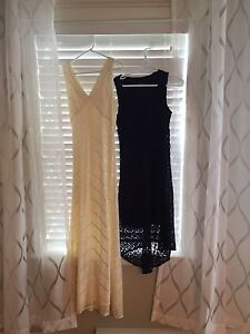 Light yellow size 6 and navy size small