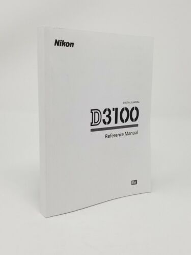 Nikon D3100 Instruction Owners Manual D3100 Book NEW