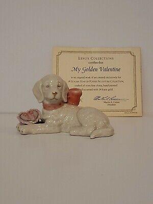 Lenox My Golden Valentine Puppy Dog Figurine