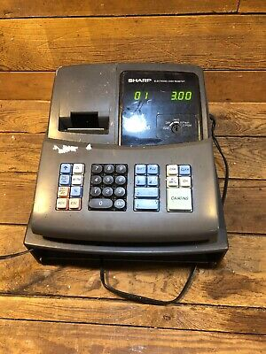Sharp Electronic Cash Register - Model Xe-a106 Retail Missing Drawer And Key