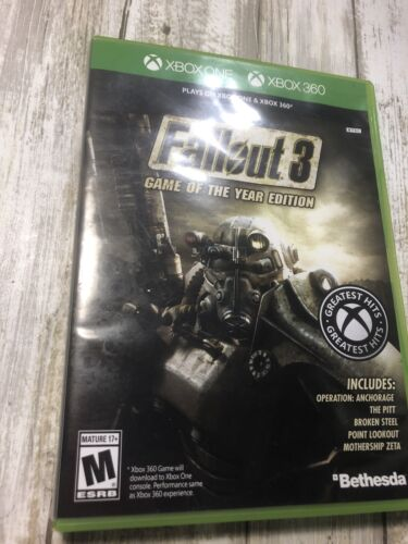 Fallout 3 -- Game Of The Year Edition Microsoft Xbox 360, 2009  - $14.00