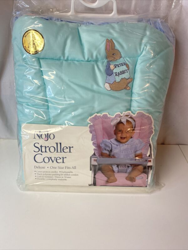 Nojo Stroller Cover Beatrix Potter Peter Rabbit Deluxe One Size Fits All Rare!