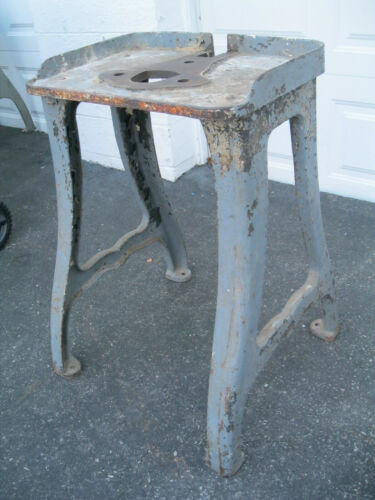 """Vintage 30-1/2""""  tall  Cast Iron Table Legs Industrial Machine Shop"""