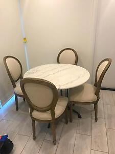 4 seater marble dining table Fairfield Fairfield Area Preview