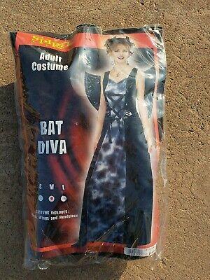 Spirit Halloween Adult Female Costume BAT DIVA 3-Piece Set Size M