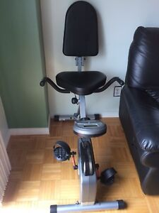 Folding exercise recumbent bike