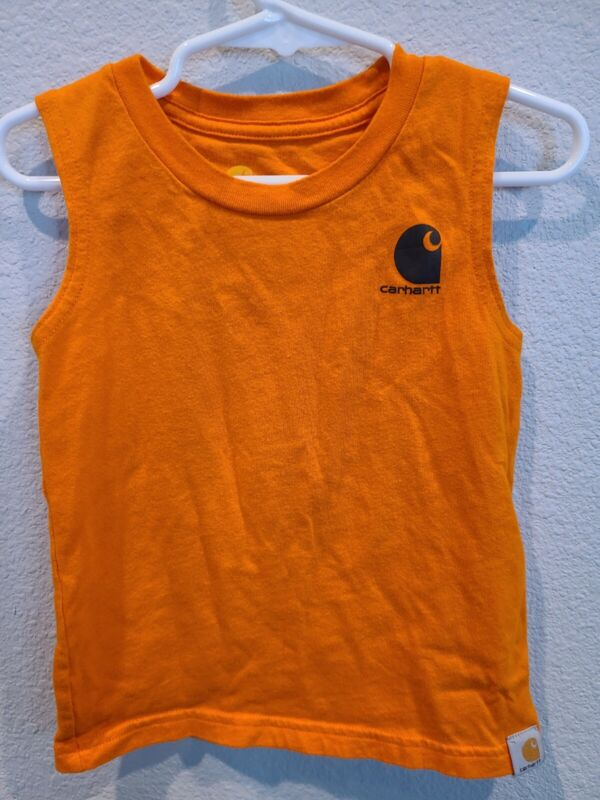 Toddler Boy Carhartt Orange Camo Tank Shirt 2T